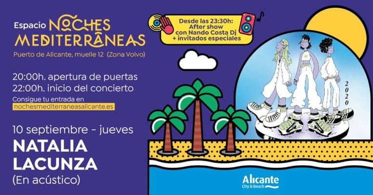 Natalia Lacunza actuará en directo en Noches Mediterráneas
