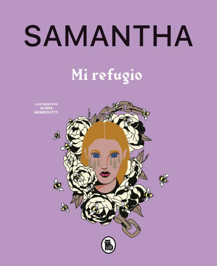 """Portada del libro de poesía de Samantha titulado """"Mi refugio""""/ Fuente: @_samantha (Instagram)"""